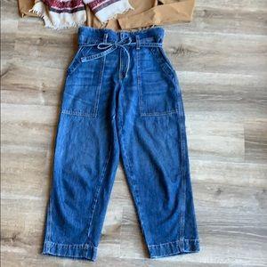 "Current/Elliott Jeans - Current Elliot ""the chore"" drawstring jeans"